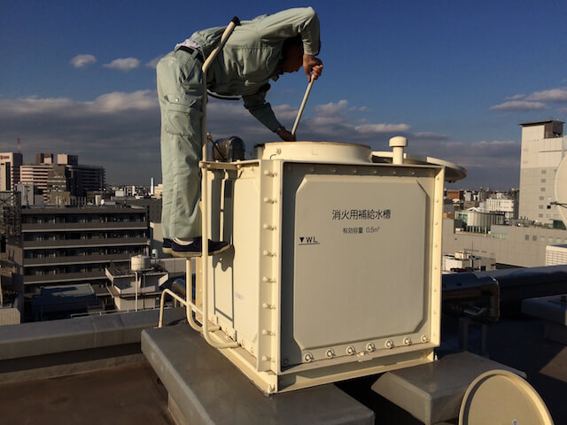 屋上 補助補給水槽