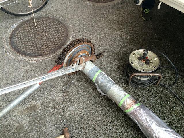 泡消火栓ポンプ フート弁交換