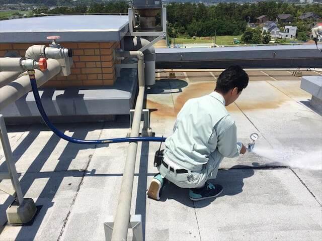 易操作性1号消火栓放水試験